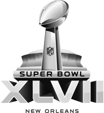 "This is the third ""standard"" Super Bowl logo. How on earth can they call it ""The [N]o [F]un [L]eague""? - SARCASM DETECTED!"