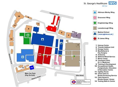 St_Georges Hospital Map