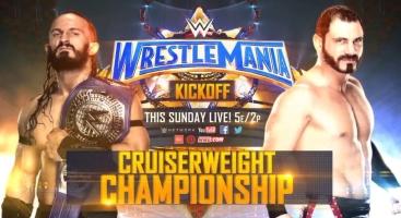 WrestleMania-33-Neville-vs.-Austin-Aries-for-the-WWE-Cruiserweight-Championship-Kickoff-Show-match