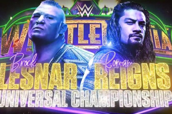 In making a mosaic of all the matches on the card, I forgot the main event.... huh!